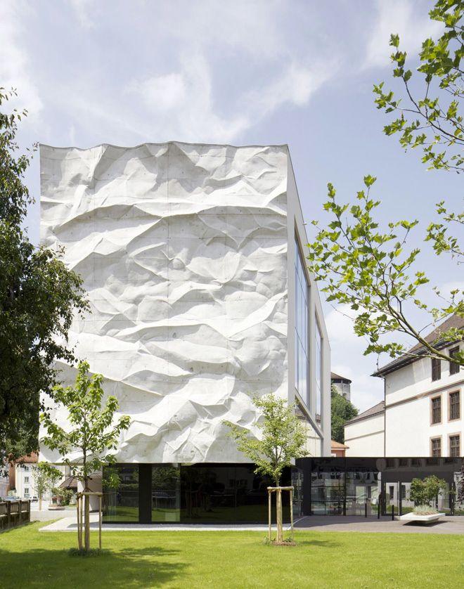 High School Crinkled Wall by Wiesflecker Architekten #concrete