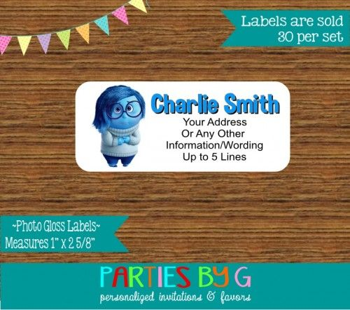 Inside Out Return Address Gloss Labels Personalized Custom