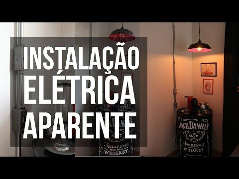 Instalação Elétrica Aparente - Homens da Casa