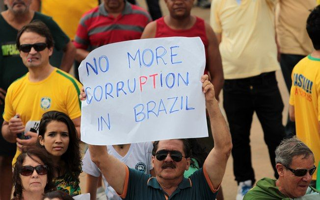 Even though Brazil is a very beautiful country, there is a lot of corruption too. It has become so much and so apparent that Brazilians are tired of the actual government and are currently protesting almost in a daily basis for an early leave of Dilma Rouseff.