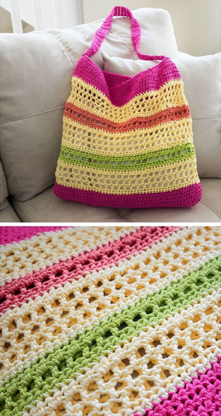 [Free Crochet Pattern] Always Look Your Best At The Beach With This Awesome Beach Tote Bag