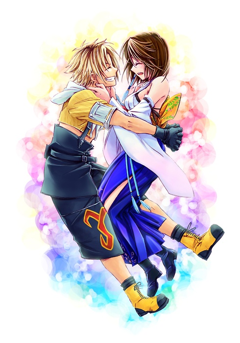 Cute. I love Tidus and Yuna. They make a great couple.