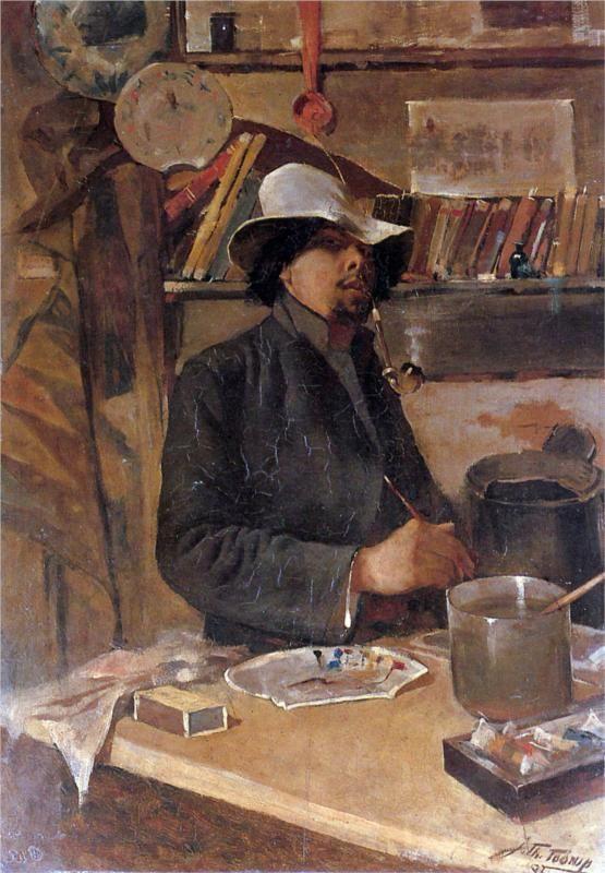 Self -portrait,   Jan Toorop