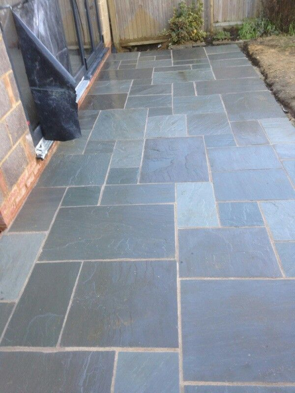 Grey Indian sand stone patio
