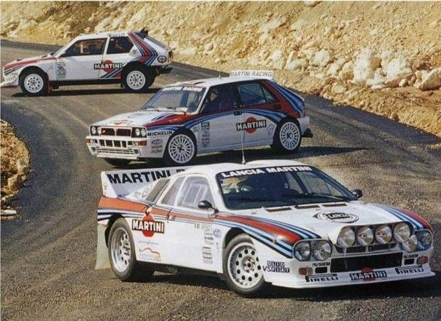 lancia delta delta s4 and 037 three world rally champions of martini 39 s successful rallying. Black Bedroom Furniture Sets. Home Design Ideas