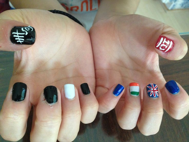 1D & 5SOS Nails :) my two favorite bands!!