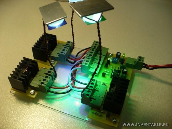 Controlador RGB para leds de alta potencia  http://www.inventable.eu