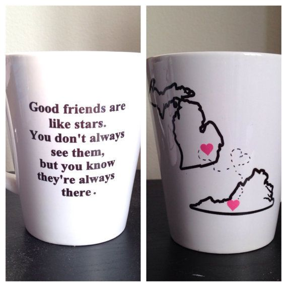 Long distance friendship mug. Custom Long by SimplyGlassic on Etsy