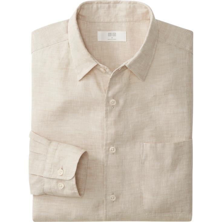 Nice casual colour for a man's linen shirt
