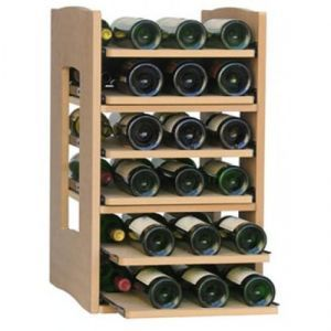 Scaffale in Legno con 6 ripiani per 36 Bottiglie. I ripiani offrono la massima stabilità e uno stoccaggio delle bottiglie.