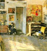 Madame Josse Hessel in Vuillard's Studio  by Edouard (Jean-Edouard) Vuillard