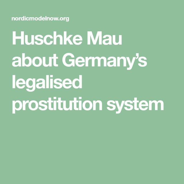 Huschke Mau about Germany's legalised prostitution system