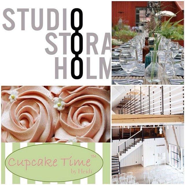 Samarbete med Stora Holm Säteri inleds ❤️ #studiostoraholm #storaholmssäteri #cupcakekurs #dekorationskurs #möhippa #konferens #event #kalas #kul #roligt #cupcake #göteborg #storaholm @studiostoraholm