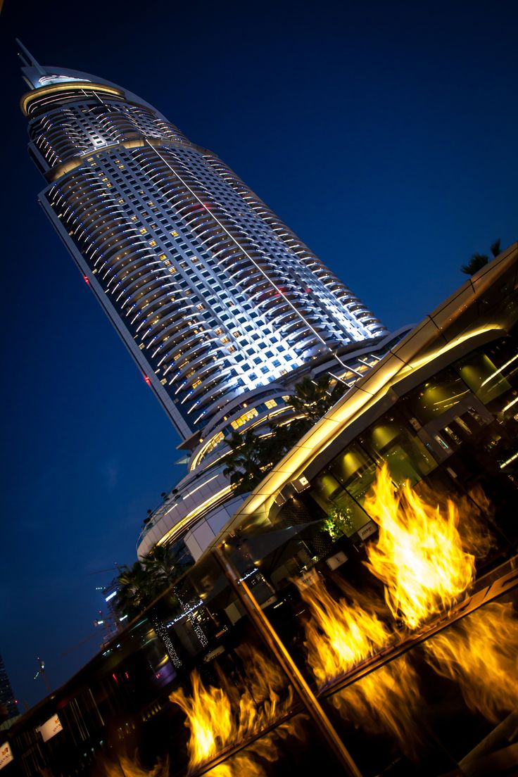 Here's a little cure for your Monday blues Our Fire Line Outdoor at the Address Downtown Dubai #fireplace www.facebook.com/planikafire