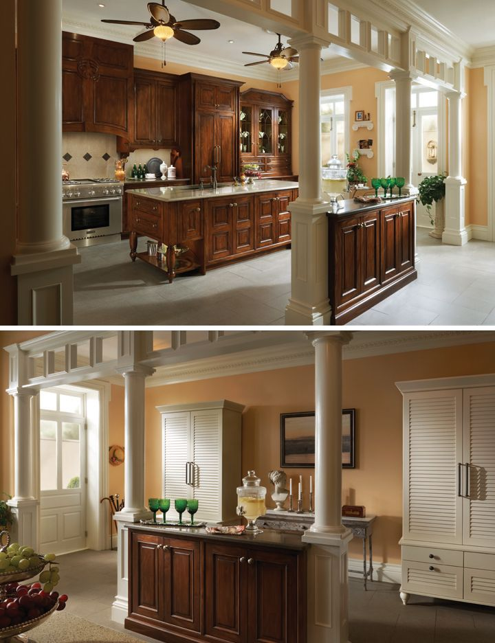 white built in Cabinets Furniture Style Wood Mode