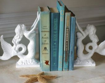 beach decor cast iron mermaid bookend or by etsy
