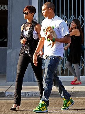 Chris Brown, Rihanna & maltipoo