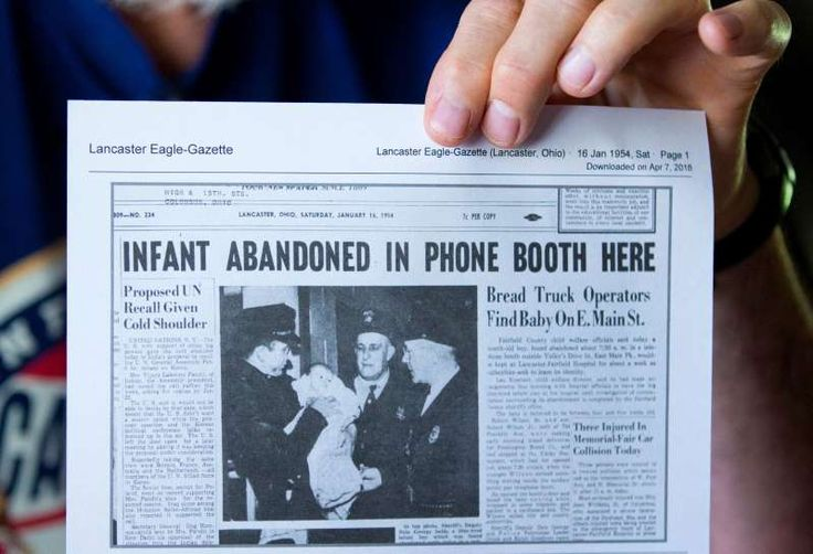 a close up of a newspaper As a baby Steve Dennis was