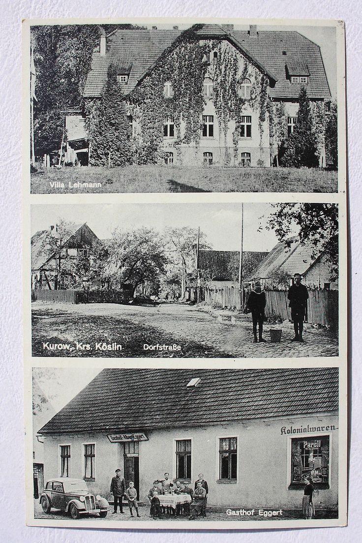 12963 AK KUROW Kreis Köslin Gasthof Egget Kolonialwaren 1939