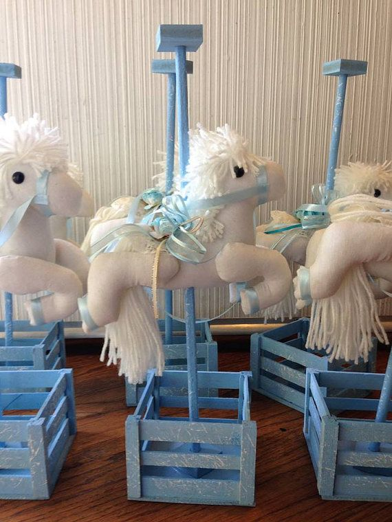 Horse Carousel Centerpiece Baby Shower by designsbyemilys on Etsy