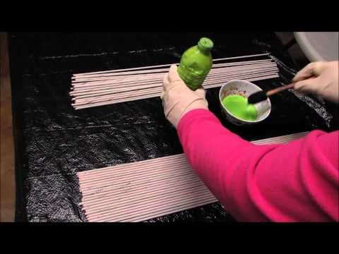 How To: Paint Newspaper Tubes - YouTube