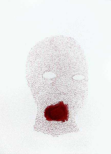 Untitled, drawing, acrylic, crayon, 2013 http://justyna-adamczyk.tumblr.com/
