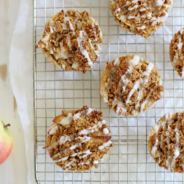 Mini iced oatmeal cookie apple pies and a surprise virtual baby shower!