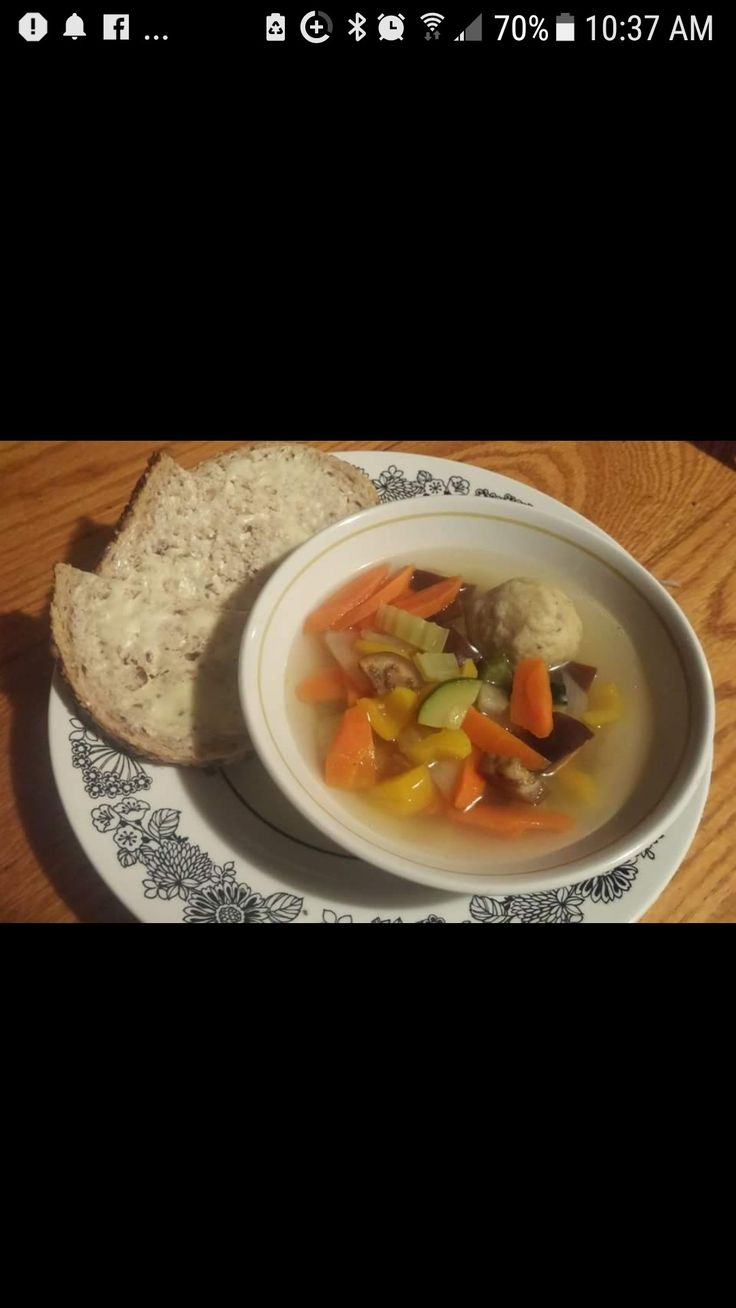 Homemade Mozzaball Mix Garden Veggie Soup  #soup #autunm #winter #homemade #traditions