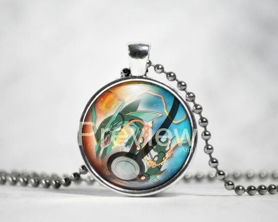 Mega Rayquaza Pokemon Pendant Pokemon Necklace by PokemonyByAnn