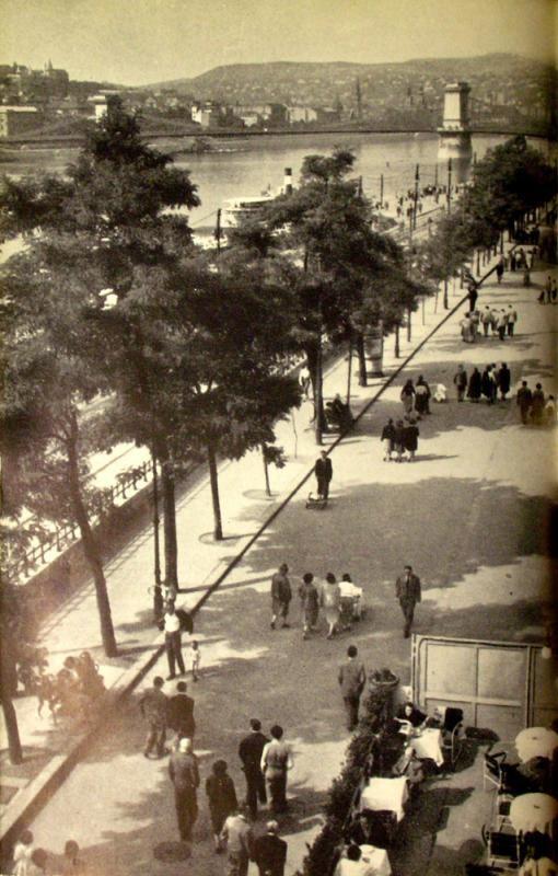 Budapest 1960 Hungary Duna korzo