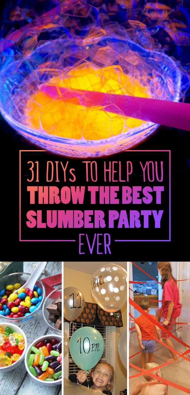 31 DIYs To Help You Throw The Best Slumber Party Ever as if i'll ever have one but its so cute i just had to pin it <3
