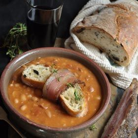 Belly warming Bean soup just in time for those cold nights