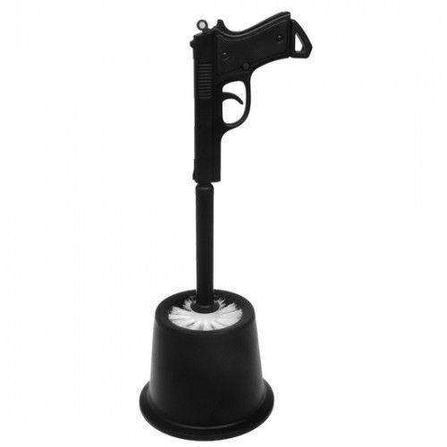 Supergrappige toiletborstel in de vorm van een pistool - maak schoon of ik schiet! Price €17,95