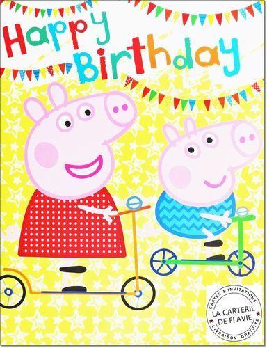 Cartes Peppa Pig pour offrir à un anniversaire, livraison gratuite à retrouver sur notre site http://lacarteriedeflavie.com/Carte-anniversaire-licence/Peppa-Pig