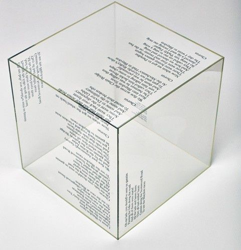 exhibition invitation - We hope to dance in a cube box as the audience arrive, because a lot of the work for Illumin8 is based on quotes by artists I think having the quotes on the cube will give the audience a clearer feel of the stimulus for the performance