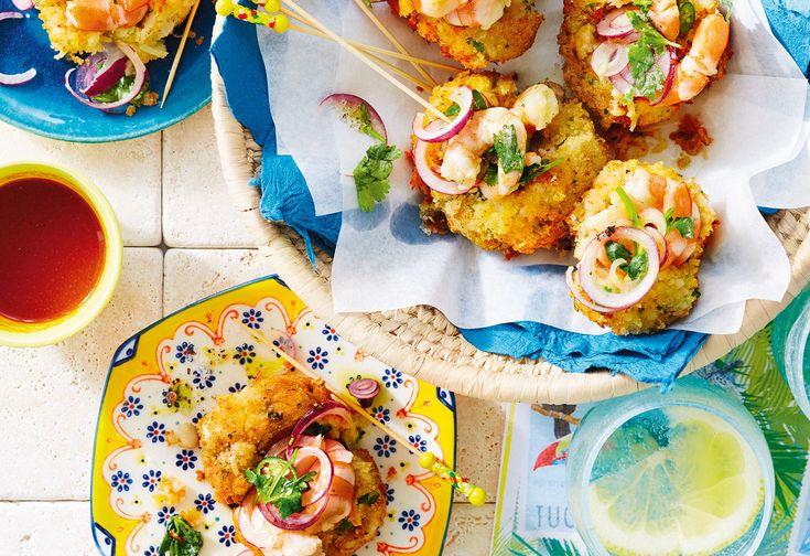 Frittierte Bohnenbällchen mit Shrimps