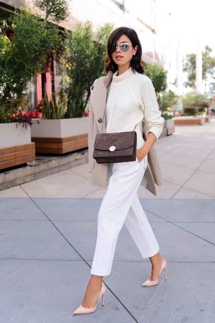 sweater with straight leg pants