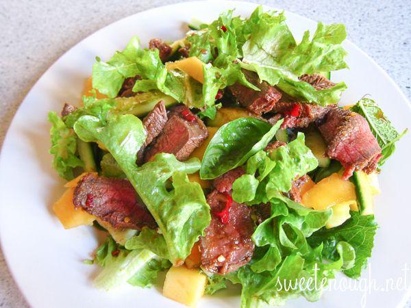 Thai Beef Salad with Mango