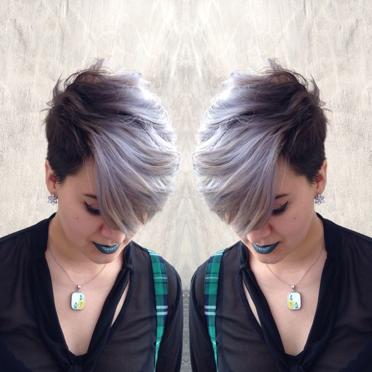 Image Result For Pixie Cut With Silver Hair And Makeup