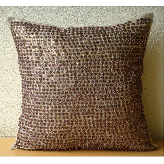 Metallic Magic  Pillow Sham Covers  24x24 Inches by TheHomeCentric