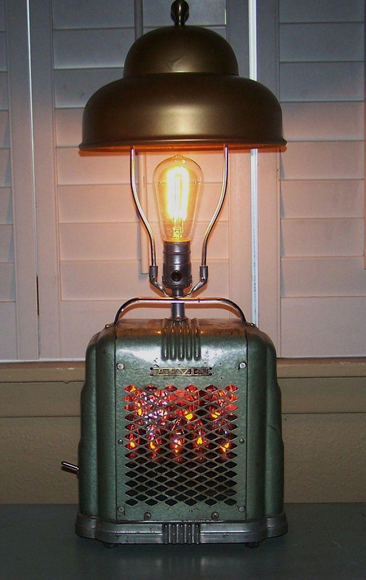 1940's space heater lamp/ J Dooley