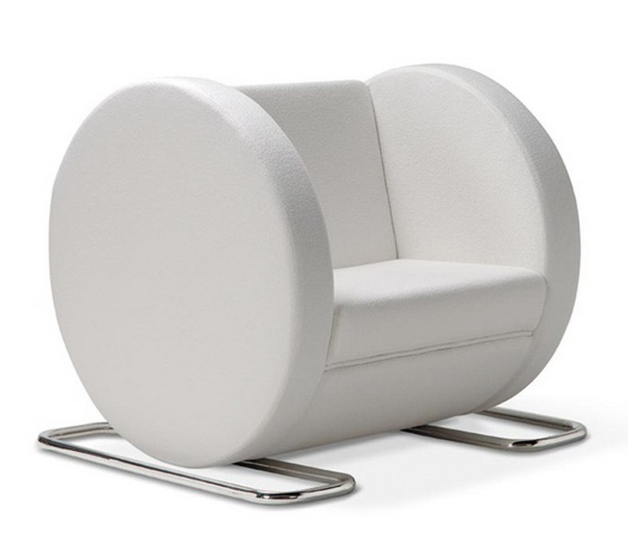 Upholstered Polyurethane Armchair With Armrests TUBE