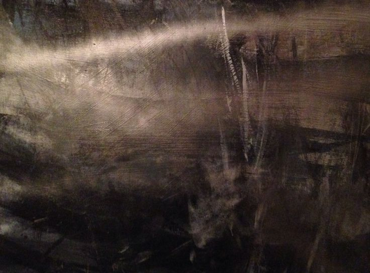 Reflections Below, part of diptych, mixed media collage.