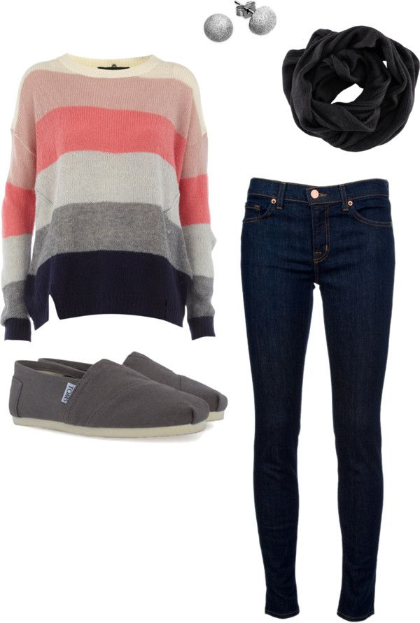 stripesCasual Outfit, Clothing, Tom Shoes, Stripes Sweaters, Fall Outfits, Winter Outfit, Fall Fashion, Cute Outfit, Dreams Closets