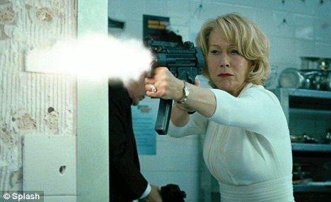 Hellen Mirren (movie still from the film RED) hot!