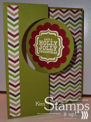 Kim Stamps It Up!: Holly Jolly Interactive Flip Card