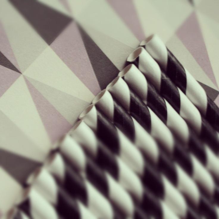 http://partydesign.no #sugerør #papirsugerør #partydesign #paperstraws #pattern #retro