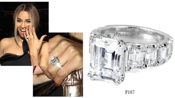 Get Ciara's engagement ring look with F187 from #MichaelM