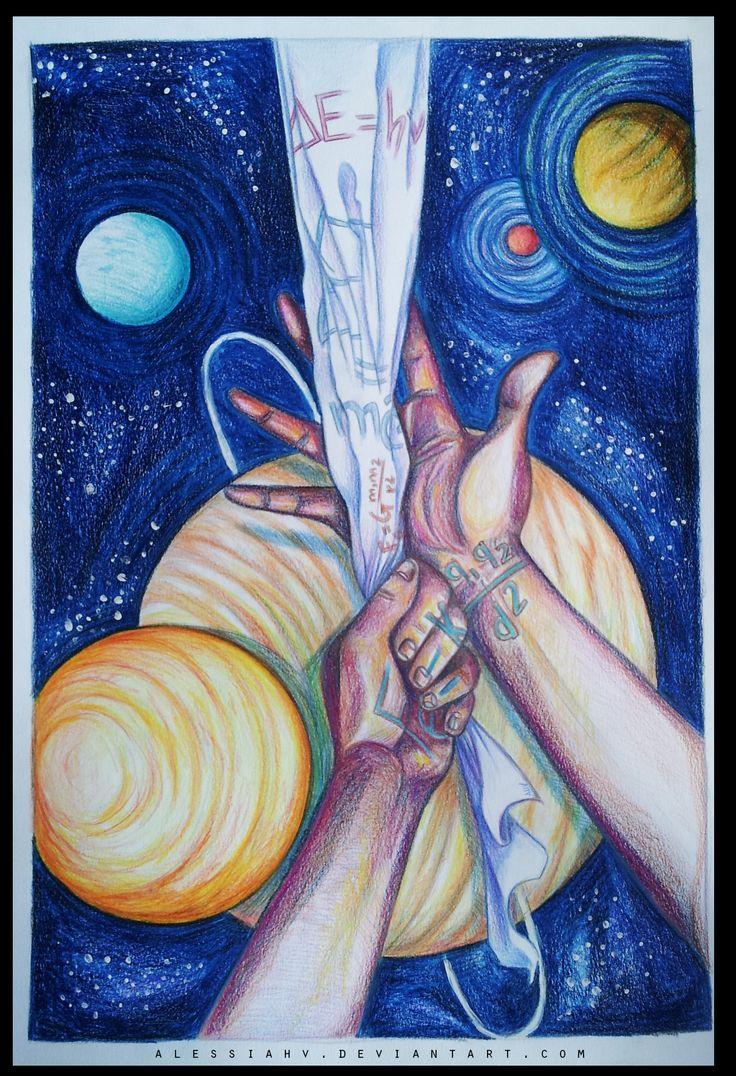 Alessia H.V., 'Nabukov', crayon and acrylic on paper, 2015.