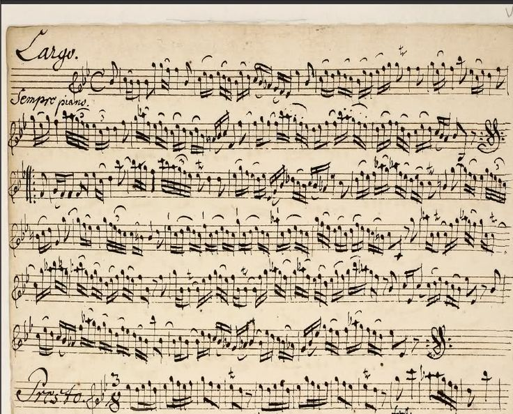 Bach Sheet Music Handwritten